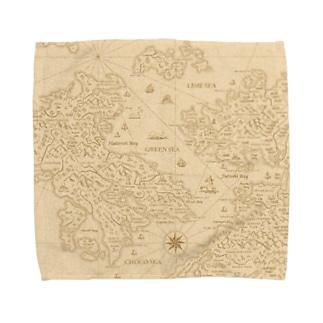 古地図 Towel handkerchiefs