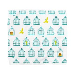 鳥かご Towel handkerchiefs