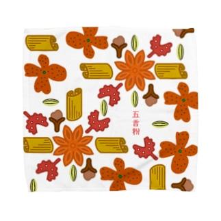 五香粉組み紋柄 Towel handkerchiefs
