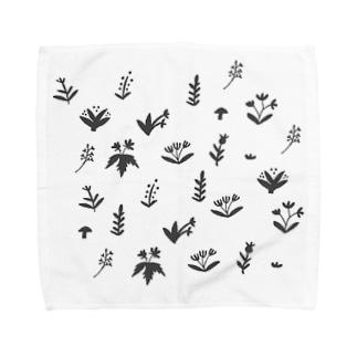 野草柄 Towel handkerchiefs