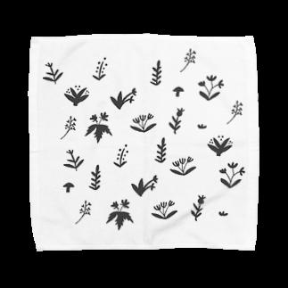 Hütte hiiiiiの野草柄 Towel handkerchiefs