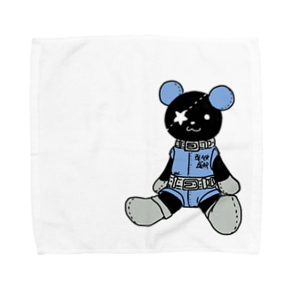 黒クマ君お座り Towel handkerchiefs