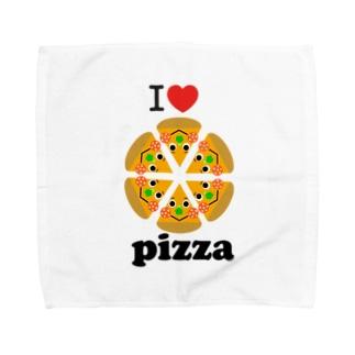 アイラブ☆ピザ Towel Handkerchief