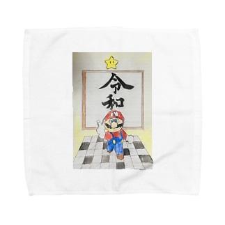 スーパー菅マリオ64令和 Towel handkerchiefs