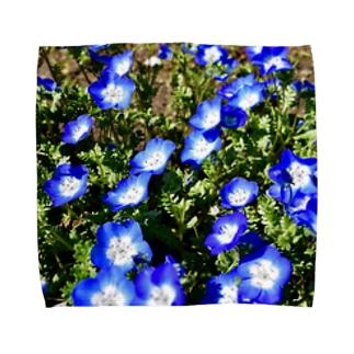 幸せの青い花 Towel handkerchiefs