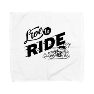 LIVE TO RIDE Towel handkerchiefs