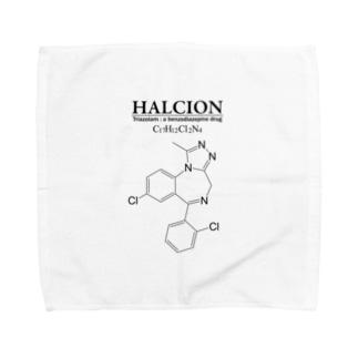 ハルシオン(トリアゾラムを使用した睡眠導入剤[睡眠薬]):化学:化学構造・分子式 Towel handkerchiefs