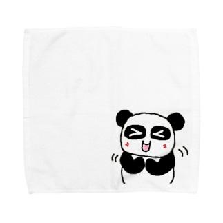 ぱんだかわいい Towel handkerchiefs