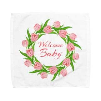 マタニティプリントTシャツ『チューリップ』 Towel handkerchiefs