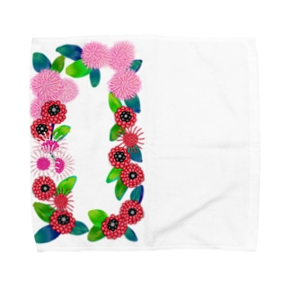 花柄 Towel handkerchiefs