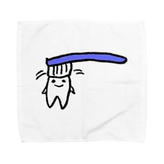 ねこりんストア Nekorin Storeの歯(し)-ちゃんのハミガキグッズ Towel handkerchiefs