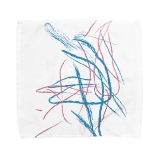 drawing Towel handkerchiefs