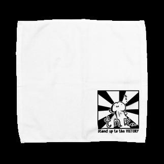 狐中天のたちあがれ Towel handkerchiefs