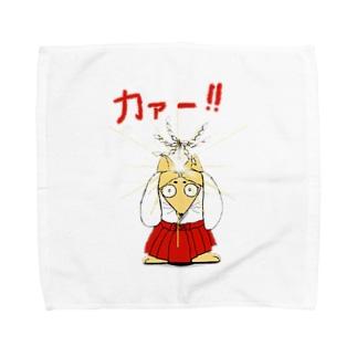 お祓い狐 Towel handkerchiefs