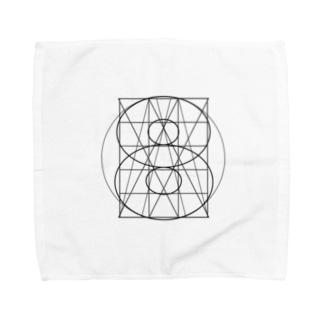 グリッド線イラストグッズ Towel handkerchiefs