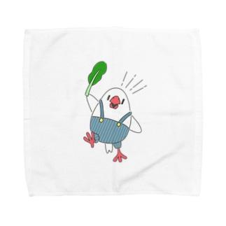 白たまご文鳥 Towel handkerchiefs
