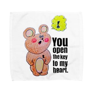 kumaさんの鍵 Towel handkerchiefs