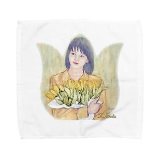 チューリップの花束 Towel handkerchiefs