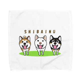 柴犬トリオ Towel handkerchiefs