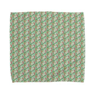 トロピカル モルモット【緑】 Towel handkerchiefs