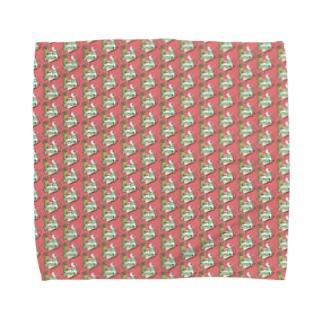 トロピカル モルモット【赤】 Towel handkerchiefs