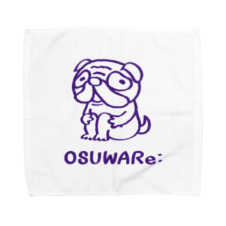 OSUWARe:のパグさん Towel handkerchiefs