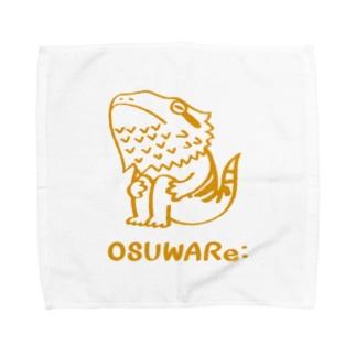 フトアゴヒゲトカゲくん Towel handkerchiefs