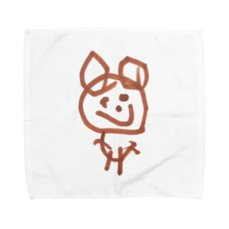 くま(4さい) Towel handkerchiefs