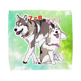 ファル君&リアンちゃん Towel handkerchiefs
