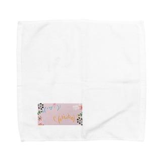 ダイヤモンドちゃんと波動たかしくん Towel handkerchiefs