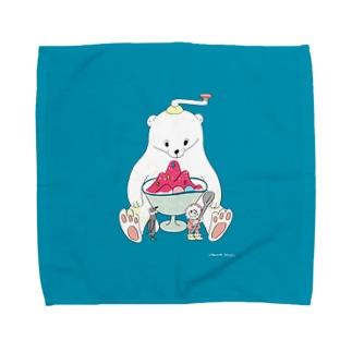 かき氷は美味しいね Towel handkerchiefs