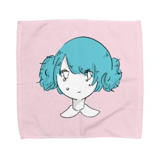 うまく結べない女の子 Towel handkerchiefs