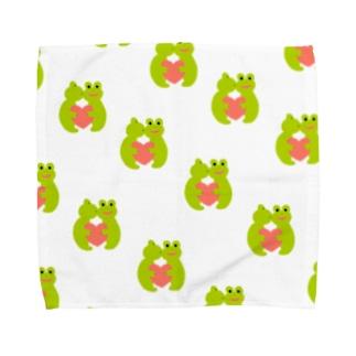 かえるさん Towel handkerchiefs