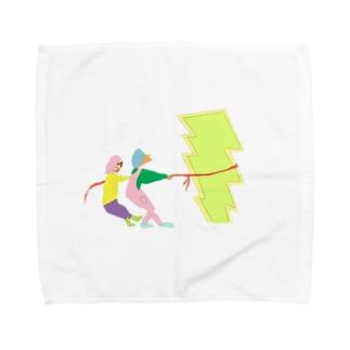言葉にならないモノを引っ張るひとたち Towel handkerchiefs