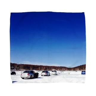 湖での走行会 Towel handkerchiefs