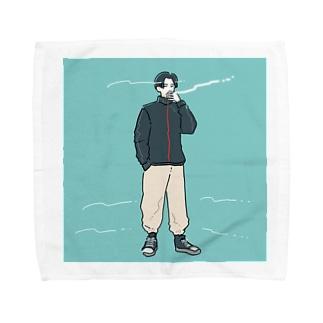 あおぞらタバコボーイ Towel handkerchiefs