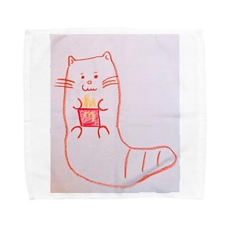エモいカワウソ Towel handkerchiefs