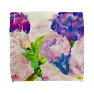 peony bouquet Towel handkerchiefs