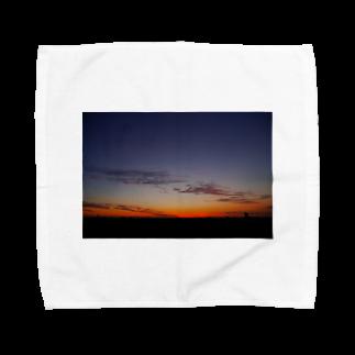 negiの夕焼け Towel handkerchiefs
