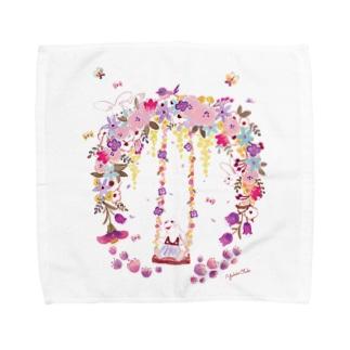 お花のブランコ Towel handkerchiefs