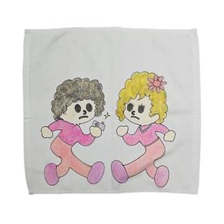 飛び出しペーパー夫妻 Towel handkerchiefs