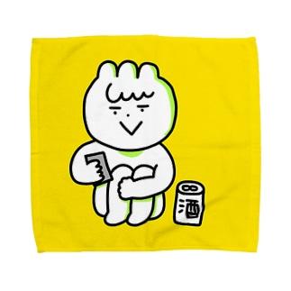 酒とスマホ Towel handkerchiefs