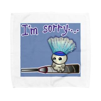 バドミントン★しょんぼりバージョン Towel handkerchiefs