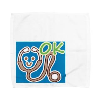 聴診器くんに癒されよう! Towel handkerchiefs