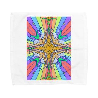 どうぶつがぱんぱかぱかぱーん Towel handkerchiefs