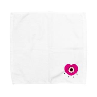 ハート目ん玉のやつ Towel handkerchiefs