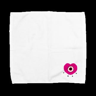 しおりのハート目ん玉のやつ Towel handkerchiefs