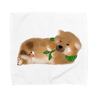 しば(どでか) Towel handkerchiefs