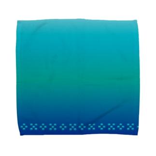 空と海の青 ミンサー [Hello!Okinawa] Towel handkerchiefs