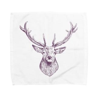 鹿さん Towel handkerchiefs